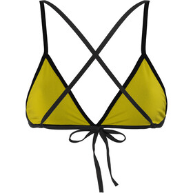arena Feel Top a triangolo Donna, black-yellow star